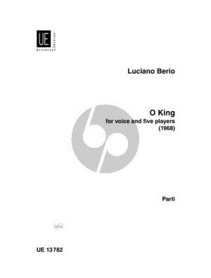 Berio O King Mezzo-Sopran-Flöte-Klar.-Vi.-Vc.-Klavier (Stimmen)