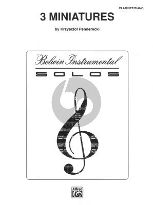 Penderecki 3 Miniatures for Clarinet in Bb and Piano