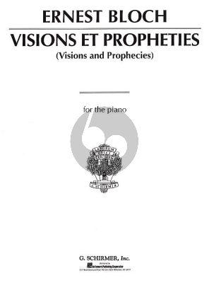 Bloch Visions et Propheties Piano solo