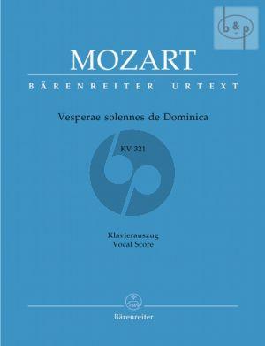 Vesperae solennes de Domenica KV 321 Soli-Chor-Orchester-Orgel Klavierauszug