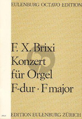 Brixi Konzert F-dur Orgel-Streicher Partitur