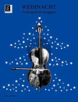 Weihnacht Cellospiel im Gruppen