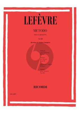 Lefevre Metodo per Clarinetto Vol.3 (Alamiro Giampieri)