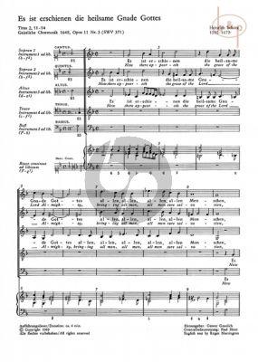 Es ist Erschienen die heilsame Gnade Gottes Op.11 No.3 SWV 371