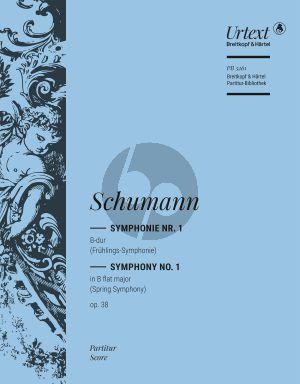 """Schumann Symphonie No.1 B-dur Op.38 """"Frühlings-Symphonie"""" Partitur (herausgegeben von Joachim Draheim)"""