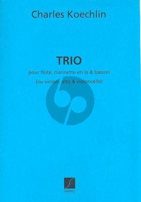 Koechlin Trio Op.92 Flute-Clarinet[A]-Bassoon (or Violin-Viola-Violoncello) (Parts)