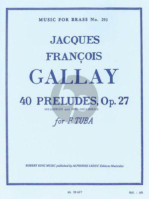 Gallay 40 Preludes Opus 27 Tuba