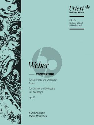 Weber Concertino Es-dur Op.26 (J.109) Clarinet-Orchestra (piano reduction) (Hausswald/Hermann)