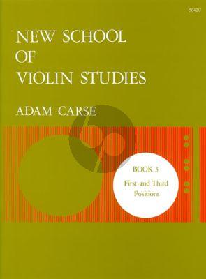 Carse New School of Violin Studies Vol.3