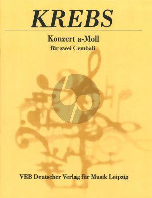 Krebs Konzert a-moll 2 Cembali (arr. Bernhard Klein)