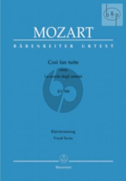 Cosi fan Tutte KV 588 Vocal Score