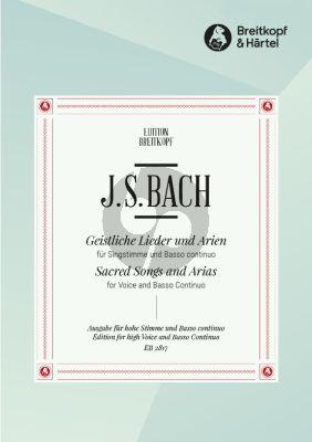Bach Geistliche Lieder & Arien (BWV 439 - 507 , 508 , 509 , 511 - 517 und 519 - 523) Hohe Stimme (Ernst Naumann)