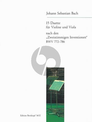 15 Duette BWV 772 - 786 Violine-Viola