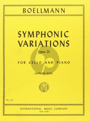 Boellmann Symphonic Variations Op.23 Cello and Piano (Leonard Rose)