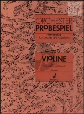 Orchester Probespiel (Test Pieces for Orchestral Auditions) Vol.2 Violin