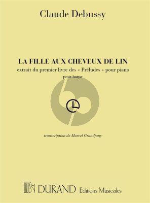 Debussy Fille aux Cheveux de Lin Harp (Preludes) (Marcel Grandjany)