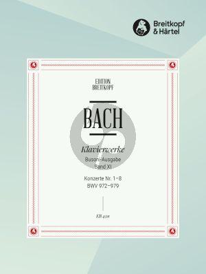 Bach Konzerte nach verschiedenen Meistern 1 - 8 BWV 972 - 979 Klavier (Ferruccio Busoni) (herausgegeben von Bruno Mugellini)