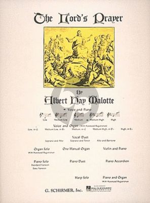 Malotte The Lord's Prayer Medium-High Voice (D-flat) (with Piano accompaniment)