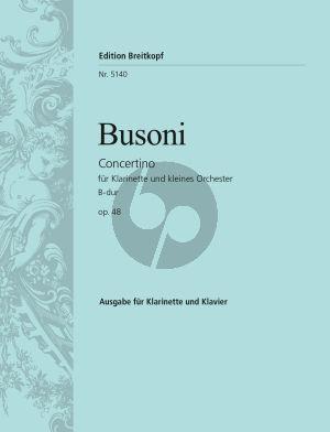 Concertino B-dur Op.48 (BV.267) Klarinette-kleines Orchester