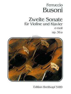 Busoni Sonate No.2 Op.36A e-moll Violin-Piano