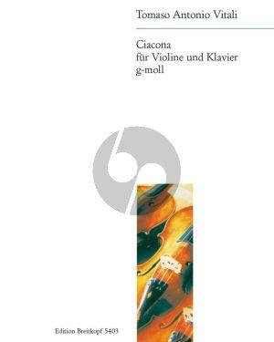 Vitali Ciacona (Chaconne) g-moll for Violin and Piano (David-Charlier)
