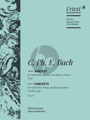 Bach Konzert B-dur Wotq 171 Violoncello-Streicher-Bc (KA) (Ulrich Leisinger)