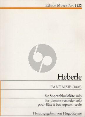 Heberle Fantaisie (1808) Sopanblockfl. allein