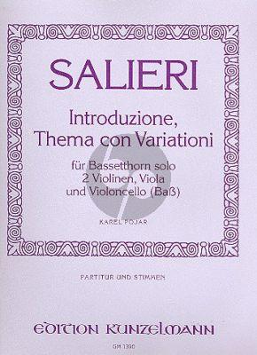 Salieri Introduzione Thema con Variationi Bassetthorn- 2 Vi.- Va.-Vc.[Bass] (Part./St.) (Pojar)
