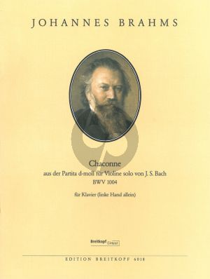 Brahms Chaconne (from BWV 1004) in D-minor (by Bach) Piano left hand