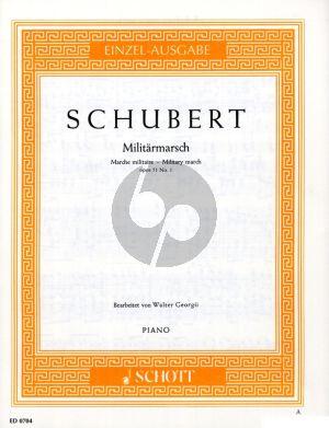 Schubert Militarmarsch D-dur Op. 51 no. 1 D 733 Klavier (Walter Georgii)