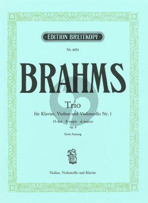 Brahms Trio H-dur Op.8 (Erste Fassung) Urtest Edition Violine, Violoncello und Klavier (Herausgegeben von Hans Gal)