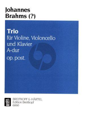 Brahms Klaviertrio A dur Op. Posth. Violine,Violoncello und Bc (Urtext based on the Brahms Complete Edition)