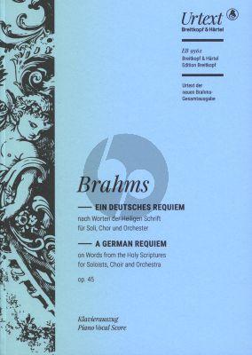 Brahms Ein Deutsches Requiem Op. 45 Klavierauszug (edited by Michael Musgrave and Michael Struck)