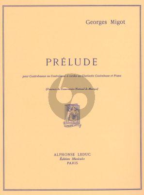 Migot Prelude Contrebasson et Piano
