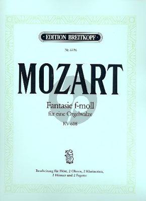 Fantasie f-moll KV 608 Fl.- 2 Ob.- 2 Clar.[Bb]- 2 Horns[Eb]- 2 Bns