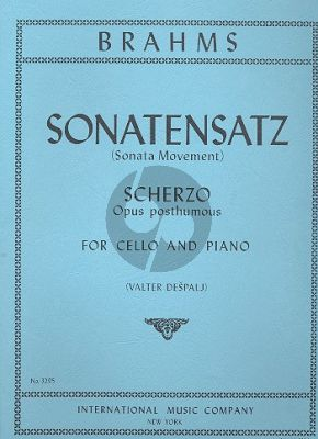 Sonatensatz (Scherzo from the F.A.E. sonata)