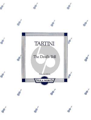 Tartini Devil's Trill Sonate for Viola and Piano (arr. Alan Arnold)