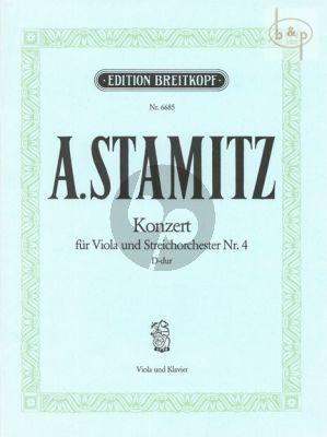 Konzert No.4 D-dur Viola-Streichorchester
