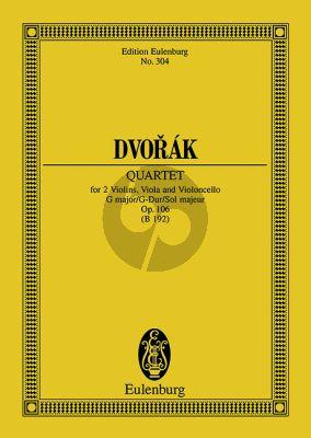 Dvorak Streichquartett G-dur Op.106 Studienpartitur
