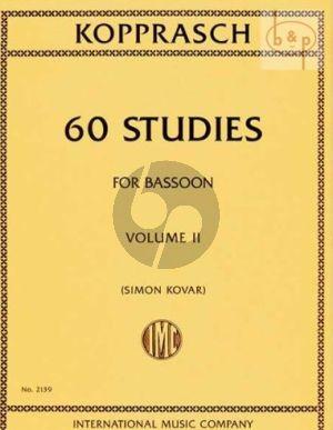 60 Studies for Bassoon Vol.2
