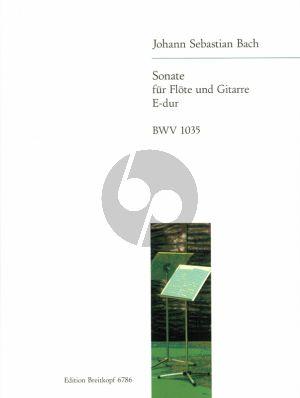 Bach Sonate No.3 E dur BWV 1035 Flote und Gitarre (Herausgegeben von Ferdinand Uhlmann)