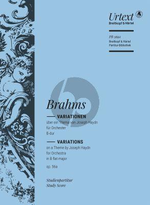 Brahms Variationen uber ein Thema von Haydn Op. 56A Orchester (Studienpartitur)