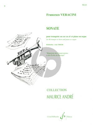 Veracini Sonate Trompette ou Cor-Piano[Orgue] Thilde (Collection Andre)