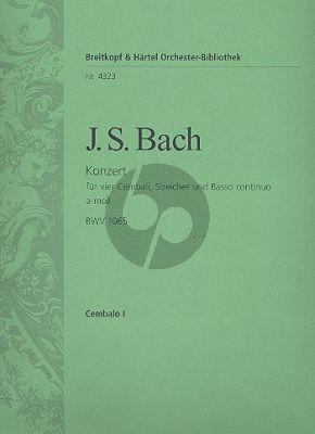 Bach Concerto a-moll BWV 1065 4 Cembali-Str.-Bc Cembalo 1 Stimme