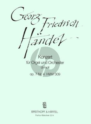 Handel Konzert d-moll Op.7 No.4 HWV 309 Orgel-Orchester Partitur (ed. Ton Koopman)