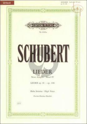 Lieder vol.4 (Hoch) (Neue Ausgabe Urtext)