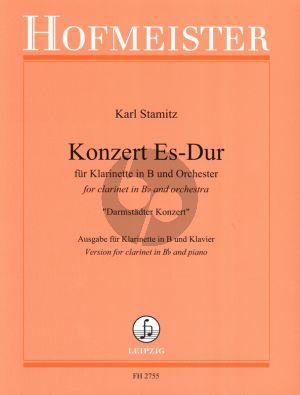 Stamitz Konzert Es-dur Klarinette und Orchester (KA) (Darmstadter Konzert) (Helmut Böse)