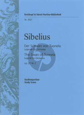 Sibelius The Swan of Tuonela Op. 22 No. 2 Study Score