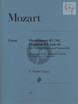 Divertimento Es-dur KV 563 / Fragment G-dur KV Anh.66 (562e) (Stimmen)
