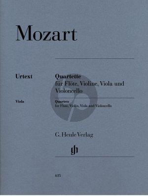 Mozart Quartette KV 285 - 285a- 285b[Anh.171]- 298) (Parts) (edited by Hendrik Wiese) (Henle-Urtext)